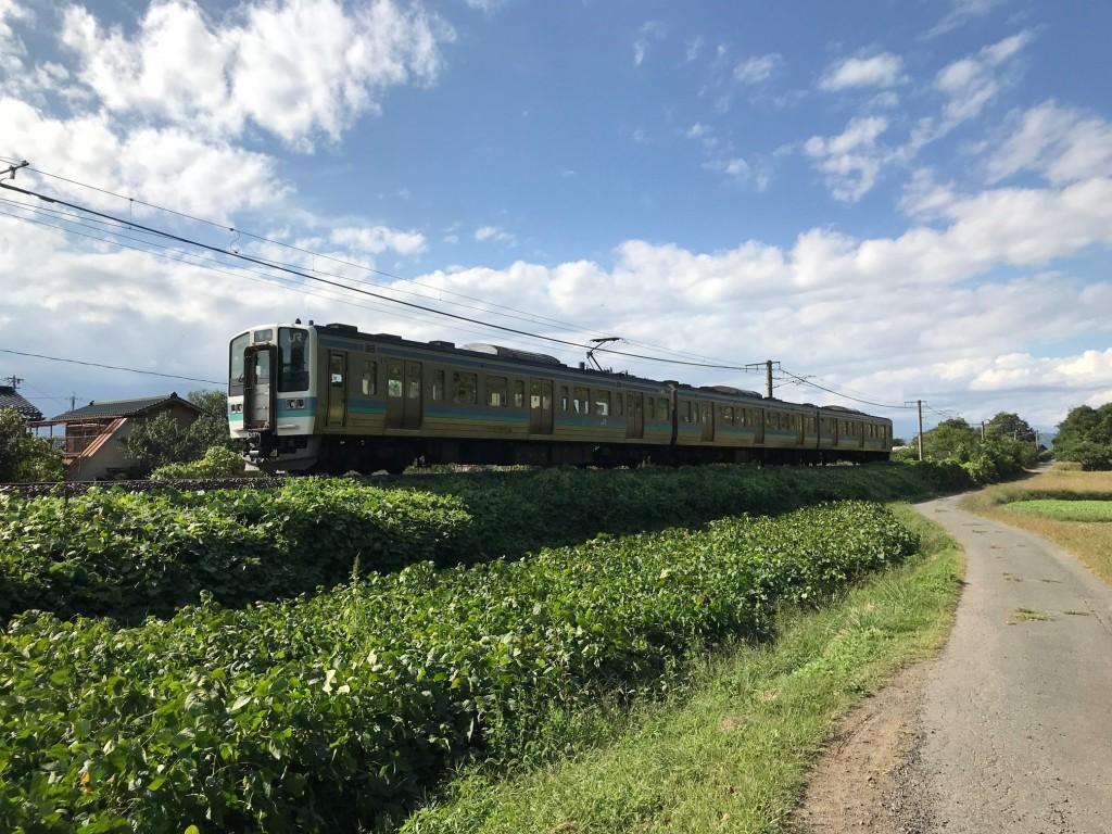 大豆畑と篠ノ井線