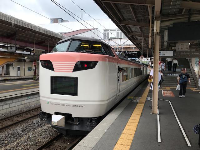 いろどり木曽路号塩尻駅出発